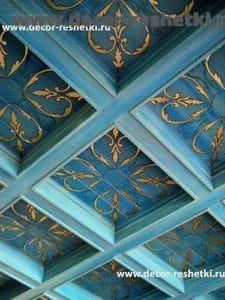 деревянные кассетные потолки заказать
